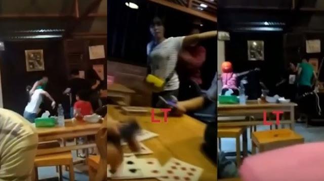 Video Istri Labrak dan Hajar Pelakor Bersama Suami di Kafe, yang Dilakukan Suami Bikin Geram