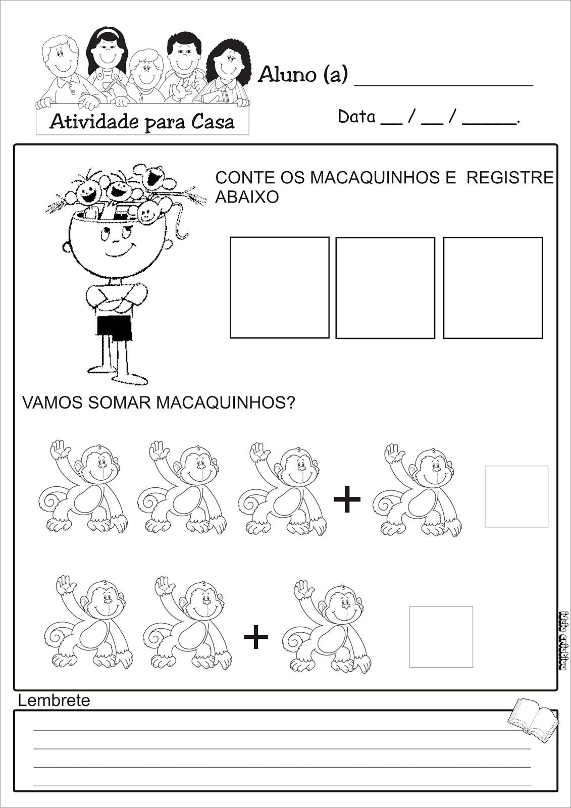 Atividade Soma Educacao Infantil