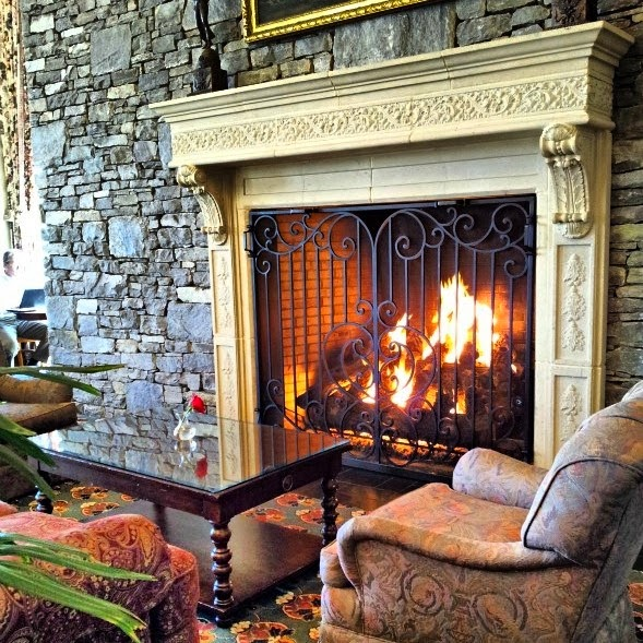 cozy fireplace in the mountains of N.C., hotels with fireplaces, Inn at Biltmore