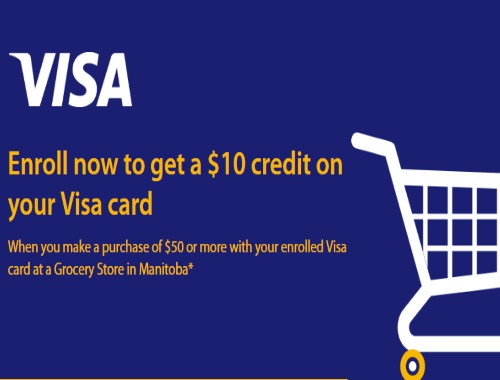 Manitoba Get $10 in Free Groceries from Visa