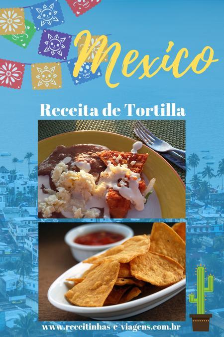 Receita de tortillas mexicanas