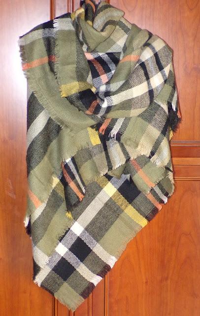 #bufanda en tonos verdes y negros