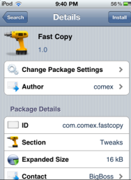 Fast Copy for iPhone, iPad and iPod Touch