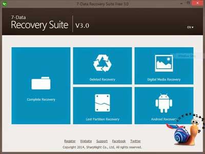 Buka Recovery Suite - cara mengembalikan file yang terhapus