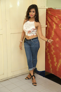 Deekshita Parvathi in a short crop top and Denim Jeans Spicy Pics Beautiful Actress Deekshita Parvathi January 2017 CelebxNext (9).JPG