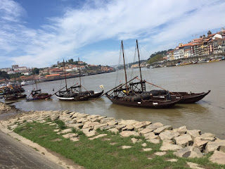 Photo 2-Replica wine barges on the Duero River of the type used to move the English troops at the Battle of Porto
