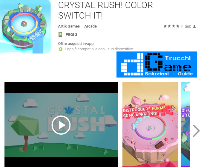 Trucchi CRYSTAL RUSH! COLOR SWITCH IT!  Mod Apk Android v1.0.19