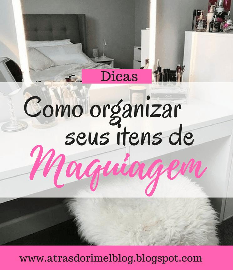 organizar itens de maquiagem