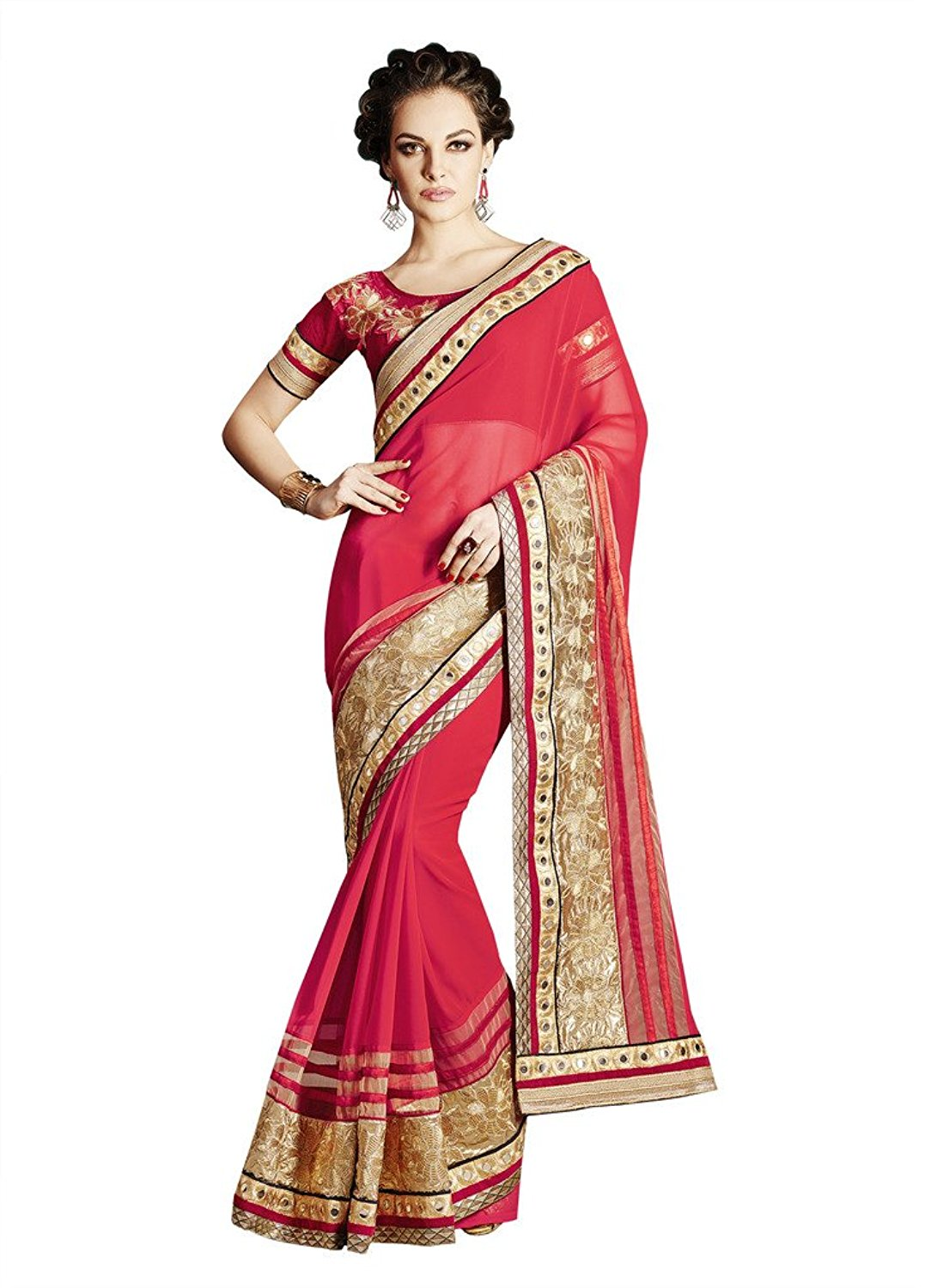 Bahubali Faux Georgette Saree