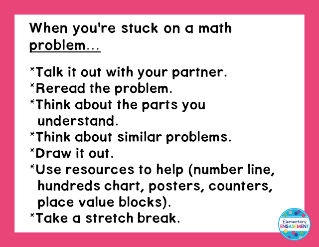 Strategies for moving forward when students are stuck on a math problem
