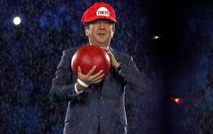 """Ini adalah penampilan yang menakjubkan. PM Jepang sebagai Super Mario #Tokyo2020,"" ujar salah seorang netizen di laman Twitter."