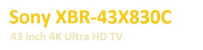 Sony XBR-43X830C