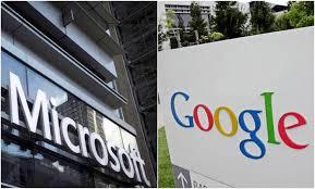 جوجل  مايكروسوفت ينهيان النزاعات بينهما