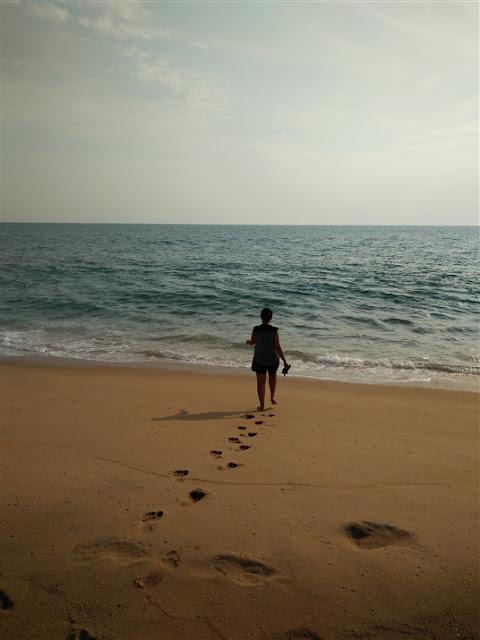 poovar beach girl alone kerala travel blog