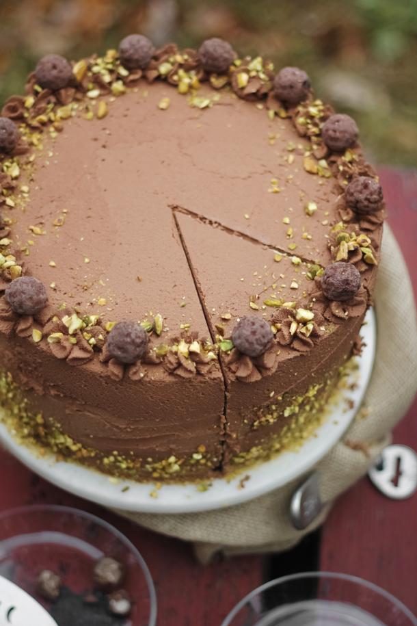 Black TrufflePistachio Chocolate Cake  Sprinkle Bakes