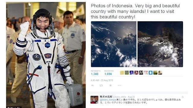 Lihat Foto Keindahannya Dari Luar Angkasa, Astronot Jepang Ini Ingin Kunjungi Indonesia