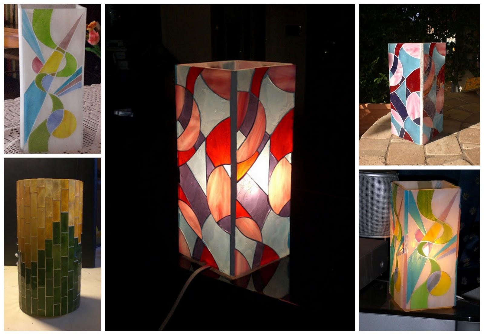 Popolare Vetrate Artistiche Belle Epoque: Lampade in mosaico di vetro PW31