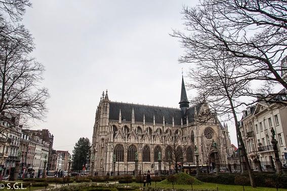 Vista de la iglesia de Sablon en Bruselas