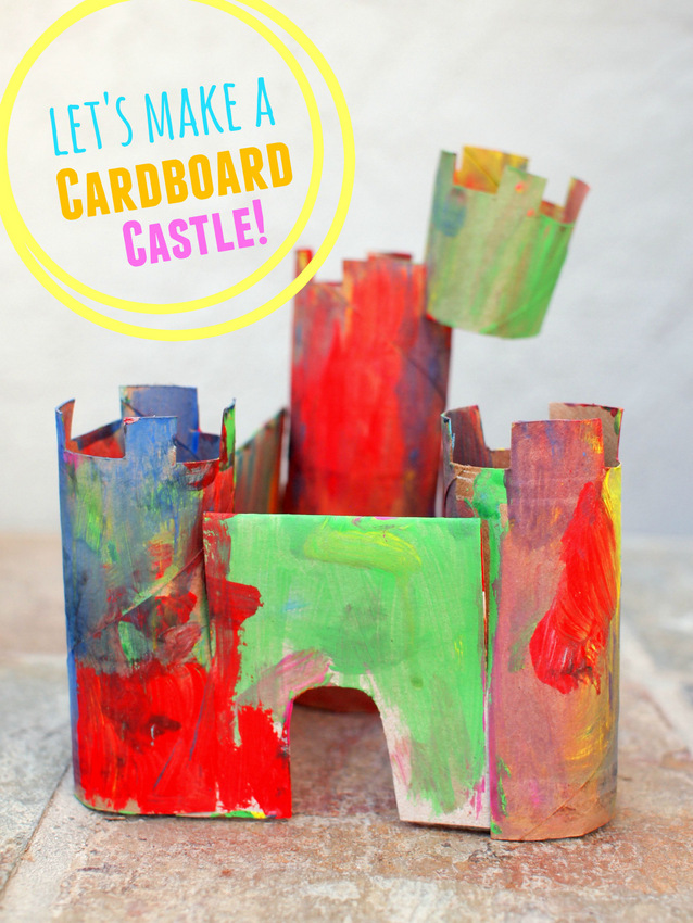 easy Cardboard Castles- make them with the kids on a playdate!