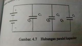 Gambar rangkaian paralel kapasitor
