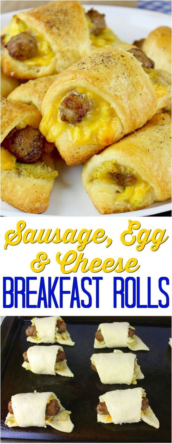 Sausage Egg And Cheese Stuffed Biscuits