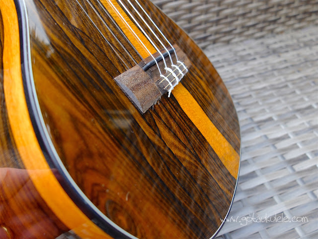 Kala Ziricote Tenor Ukulele bridge