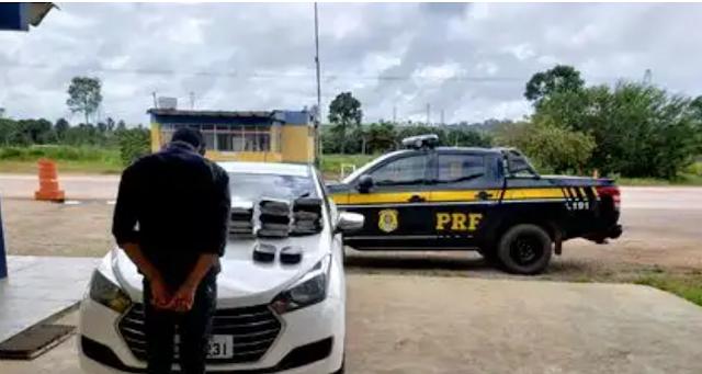 PRF flagra homem com 17 quilos de cocaína