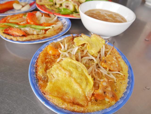 delicious banh khoai in Hue, Vietnam