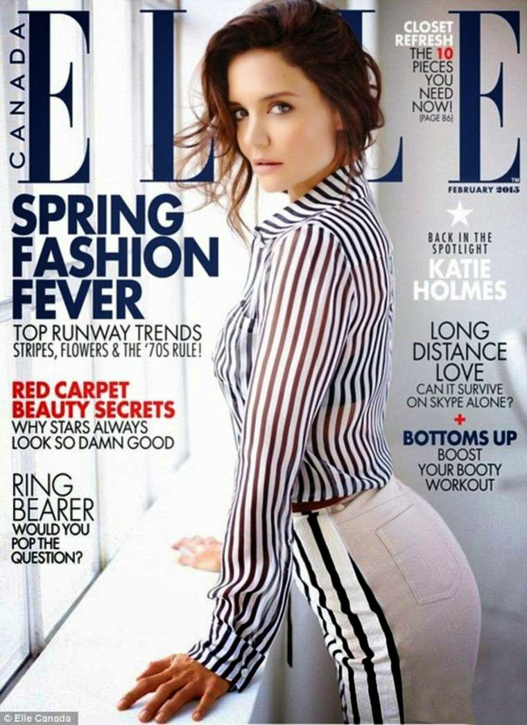 Katie Holmes covers Elle Canada February 2015