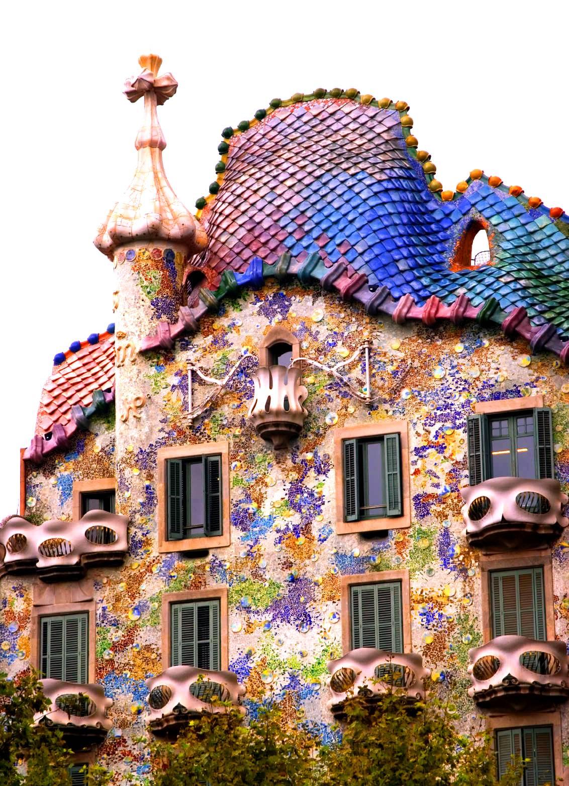 Alentours Barcelone La Casa Batll dAntoni Gaudi Barcelone