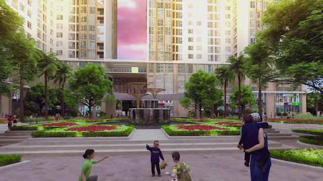 Khuôn viên chung cư Eco-green city