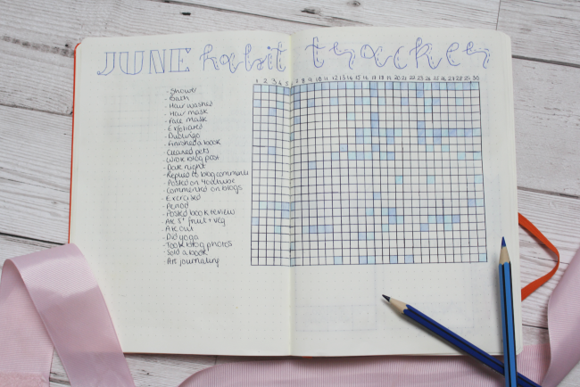 Getting my life in order with a bullet journal habit tracker - www.nourishmeblog.co.uk