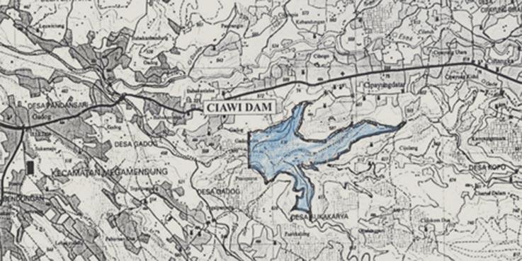 Peta Waduk Ciawi.