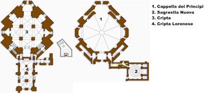 Mappa Cappelle Medicee