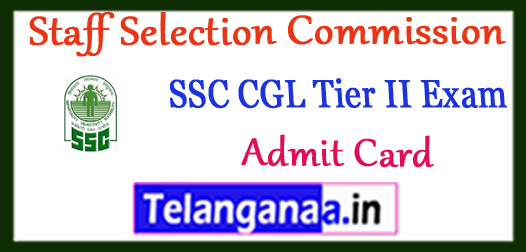 CGLE Tier II Roll Number/Hall Tickets Download 2018