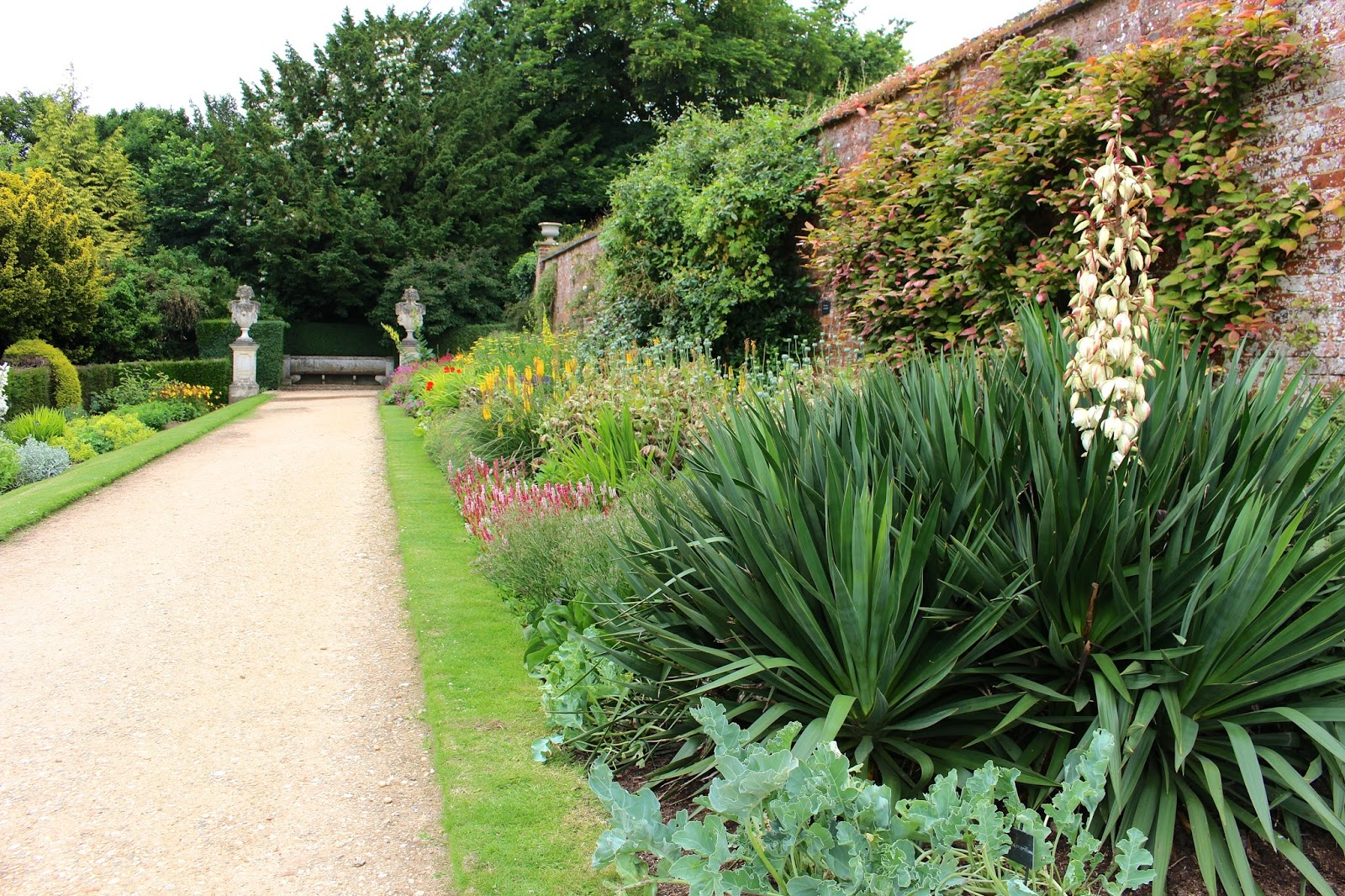 The walled gardens in the ground of polesden lacey