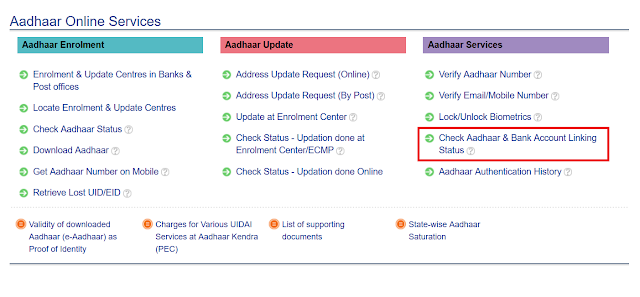 How to verify/check online if Your Aadhaar is Linked with Your Bank Accounts