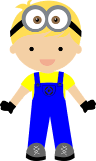 Kid Disguised as Minions Clipart.