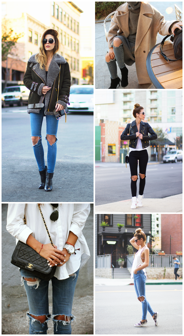 Ripped Knee Jeans Style inspiration