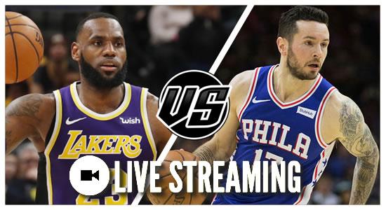 Live Streaming List: LA Lakers vs Philadelphia 76ers 2018-2019 NBA Season