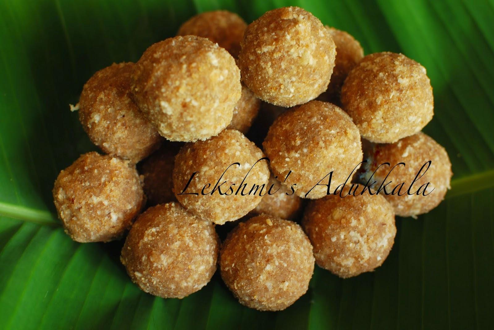 Lekshmi's Adukkala: Ari unda / Rice Ladoo