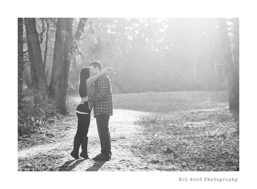 Salem Engagement Photographer | Love in the winter sun.