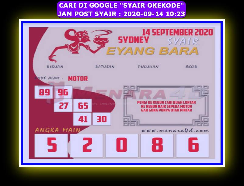 Kode syair Sydney Senin 14 September 2020 118