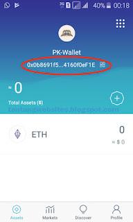 Cara install imToken Wallet ETH ERC-20