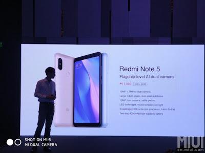Redmi Note 5 Philippines Launch
