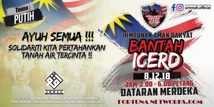 """#BANTAH ICERD: """"Perang Belum Tamat"""", Mantan Ketua Hakim Ingatkan Bangsa Melayu"""