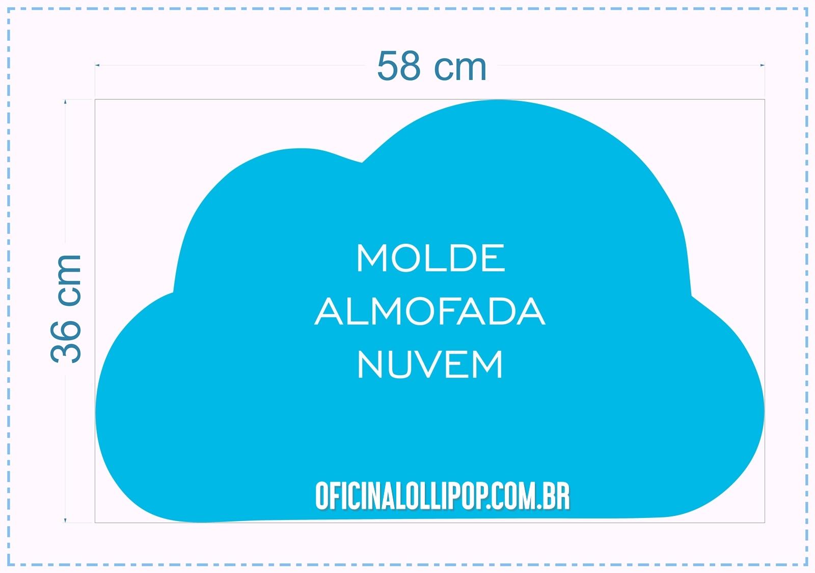 oficina lollipop molde almofada de nuvem