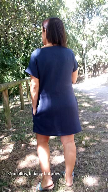 Con hilos, lanas y botones: Vestido Pieced