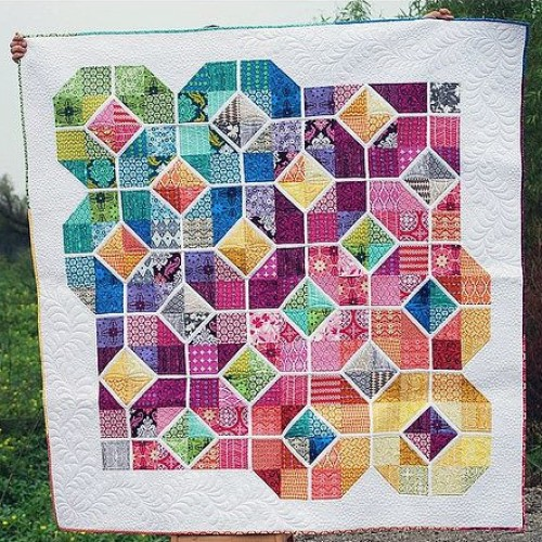 Leaded Glass Quilt - Free Pattern