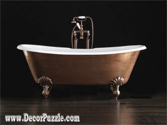 luxury bathtubs for modern bathroom, copper bathtub designs 2018
